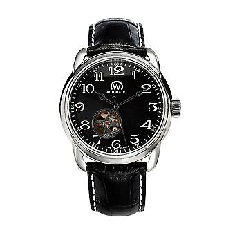 Watch Chronowatch 'apos;History'apos; Automatic Black Leather Bracelet - HY5240C1BC1