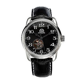 Watch Chronowatch 'apos;History'apos; Automatic Black Leather Bracelet - HY5240C1BC1