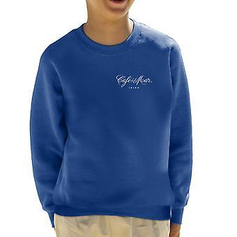 Cafe del Mar Classic White Logo Pocket Print Kid's Sweatshirt