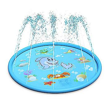 Water Spray Pad Children Playing In Water Toy Play Mat Outdoor Lawn Mat