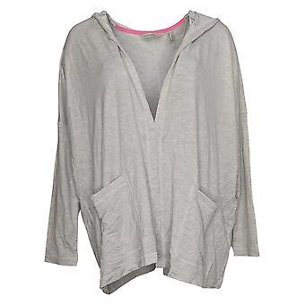 Isaac Mizrahi Live! Frauen's Pullover Reg Front Kapuzen Strickjacke grau A379695