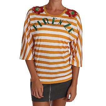 Dolce & Gabbana Vit Orange FIRENZE Top T-shirt