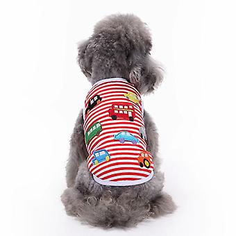 Dog cat clothes cotton patch small car summer shirt teddy