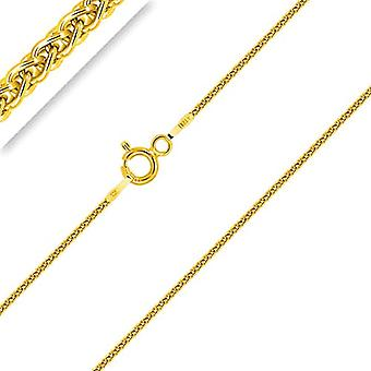 Planetys Children's chain, Spiga silver 925/1000 gold plated yellow gold 18 carats, width 1 mm, 32-34-36-38-40 cm Ref. 3701049592866