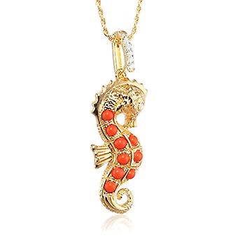 MISIS Women-Necklace Hippocampus Silver 925 Zirconi Bianchi Agata 50 cm - CA07853