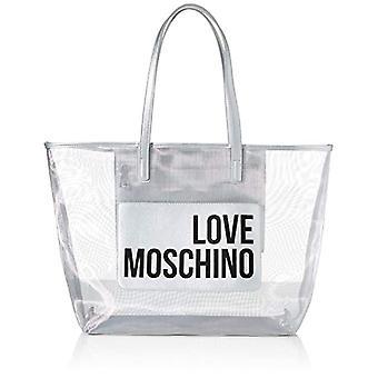 Love Moschino Jc4245pp0a, Women's Tote Bag, Silver Fabric, 48x32x12 cm (W x H x L)