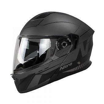 Nitro Helmet F350 Analog DVS Satin Black Gun XS 54 F 350 Cruiser Touring
