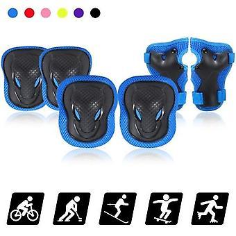キッズニーパッドは、1保護ギアキット膝肘パッドで6を設定し、手首ガード付きの子供たちはサイクリングローラースケートのためのスポーツ安全保護パッド