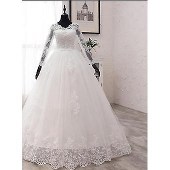 Neue Frühling Spitze Applikationen Brautkleider