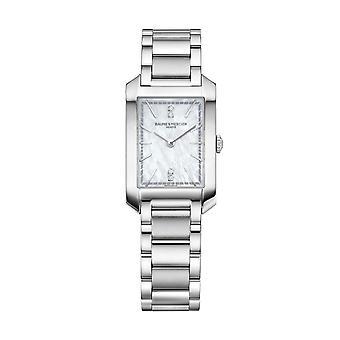 Baume & Mercier M0a10474 Hampton Diamond Mother Of Pearl Silver Stainless Steel Ladies Watch