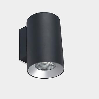 LEDS C4 Cosmos Seinäkiinnin kiinnitys à ̧ 168 Yksi päästö ulkona LED Alas Valo Suuri Kaupunki Harmaa IP55 IK07 4000K