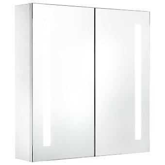 vidaXL LED-Bad-Spiegelschrank 62 x 14 x 60 cm