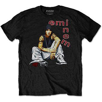 Eminem - Bokstäver Mäns Stora T-Shirt - Svart
