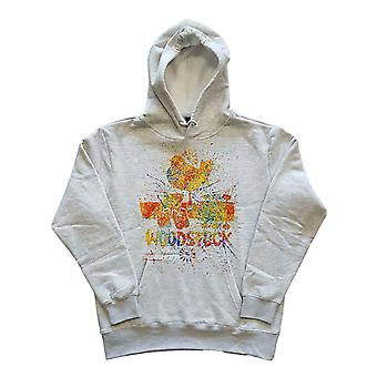 Woodstock Hoodie Splatter Logo new Official Mens Off White Pullover