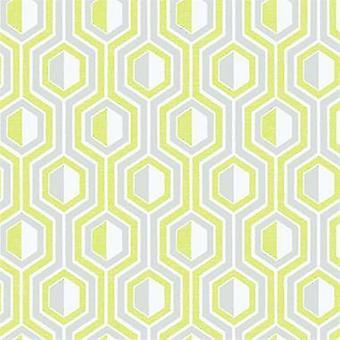 Tempo Hexagon Green Wallpaper