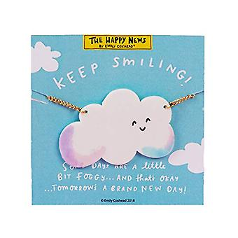 The Happy News Acrylic Necklace - Keep Smiling (Pack of 4)