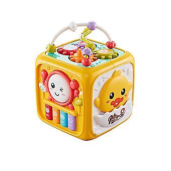 Lustige HandTrommel Spielzeug Musik Spielsachen Spielzeug Baby Spieluhr Aktivität Würfel Geometrische Blöcke Spielzeug