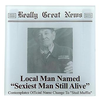 Really Great News Sexiest Man Still Alive Photo Frame Coaster