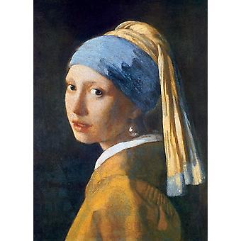 Eurographics Fille avec la boucle d'oreille en perle, Puzzle Johannes Vermeer (1000 pièces)