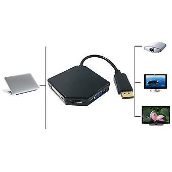 3 en 1 puerto de pantalla dp macho a Hdmi Dvi Vga hembra cable adaptador convertidor