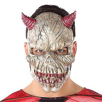 Mask Halloween Male Demon White (21 x 34 cm)