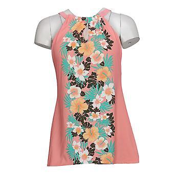 الدنيم وشركاه ملابس السباحة النسائية ريج بيتش عالية الرقبة Tankini الوردي A375179