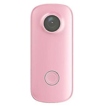 Камера большого пальца C100 Plus Мини-камера действия (розовый)