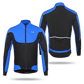 自転車のジャージアルセオ男性の防風サーマルフリースは、長袖ジャージに乗って冬のサイクリングジャケット屋外スポーツコートを並べました