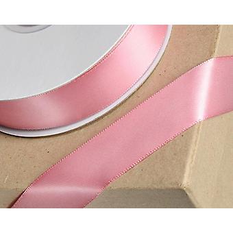 25m rosa rosa 23mm cinta de satén ancho para artesanías