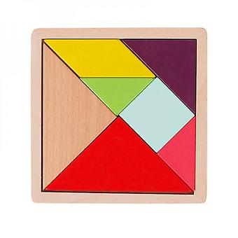 Wooden Jigsaw Puzzle Early Education Toy Shape Cognition Building Blocks
