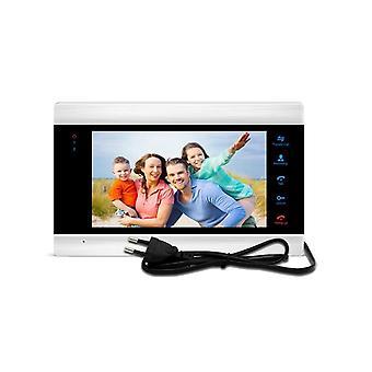 """7 """" indoor single unit intercom systeem mulit-taal muur montage monitor"""