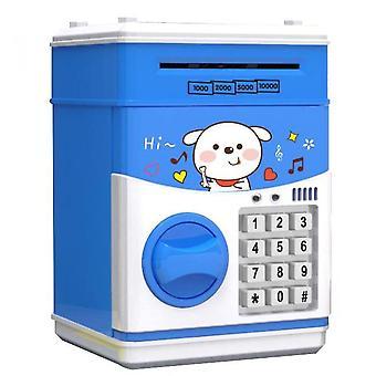 צעצוע של ילדים פיגי בנק סיסמה אוטומטית Atm פיגי בנק(כחול)