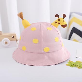 Boys and girls spring autumn children's sun hat cute giraffe doll decorated hat