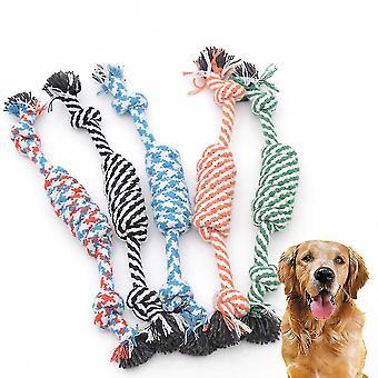 5pcs الكلب مضغ حبل الكرة القطن حبل الكلب لعبة