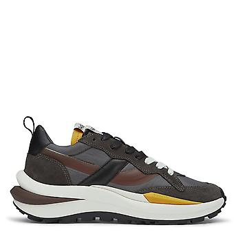 Ash SPIDER 620-01 Eco Trainers In Dark Brown And Burgundy