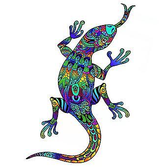 Children's gecko wooden puzzle toy A5