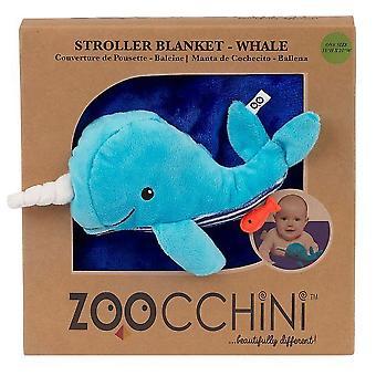 Zoocchini Fleece Stroller Buddy Blanket Whale
