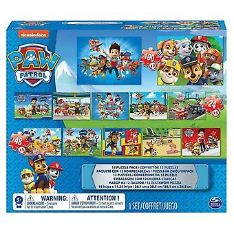 Paw Patrol 12 Puzzle Pack
