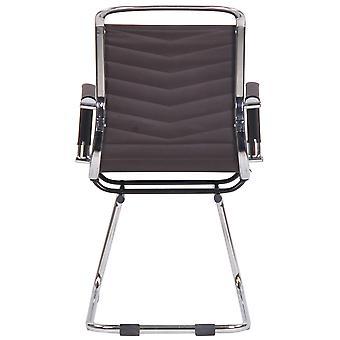Chaise de bureau - Chaise de bureau - Bureau à domicile - Moderne - Marron - Métal - 57 cm x 60 cm x 96 cm