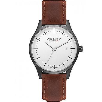 LLarsen (Lars Larsen Brown Genuine Leather) 119-Black/Brown Men's Watch
