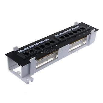 Laptop docking stations 12 ports ethernet lan network adapter cat6 patch panel rj45 networking wall mount rack mount bracket