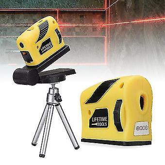 4 In 1 genaue Mehrzweck-Laser-Level-Hebel horizontale vertikale Lichtstrahl-Maßband 360