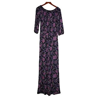 Colleen Lopez Jumpsuits Off-the-Shoulder Purple One-Piece 720332