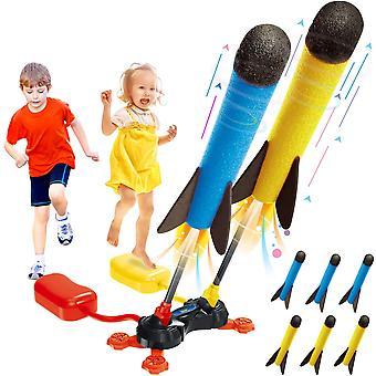 Duel Rocket Launcher Legetøj Udendørs Air Rocket Legetøj (tilfældig farve)