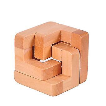 Venalisa Iq Brain Teaser Kongming Luban Lock Drewniany zazębiający puzzle Adult Children's Game Toy