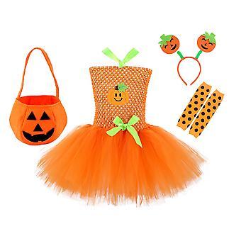 Robe citrouille d'Halloween pour filles