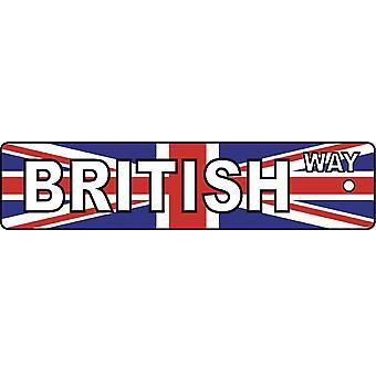 Refrogerador de ar de carro de placa de rua de maneira britânica