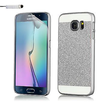 Glitter fodral för Samsung Galaxy S6 SM-G920 + penna - Silver