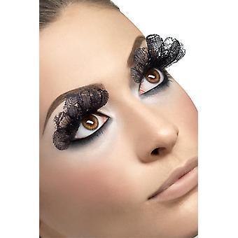 Cílios artificiais de cílios preto tecido Halloween