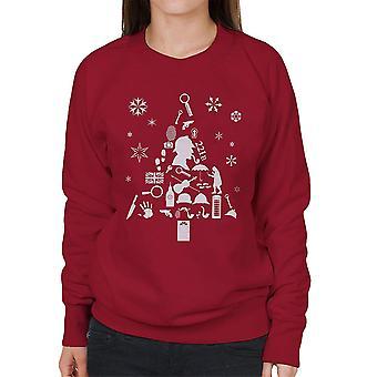 Kerstboom Sherlock Holmes vrouwen Sweatshirt